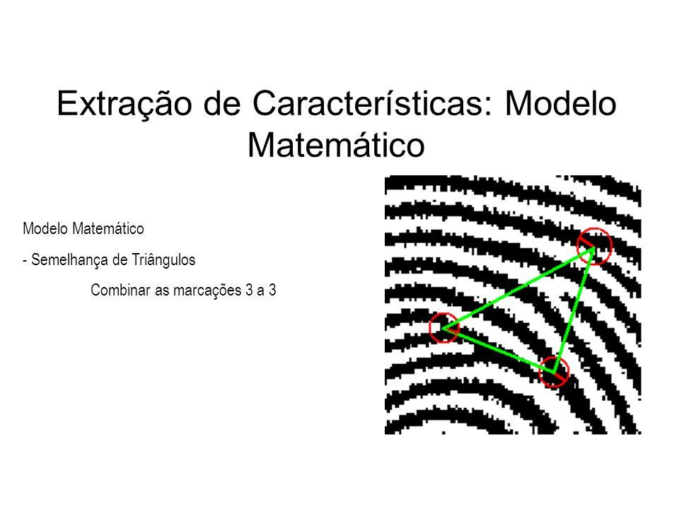 Extração de Características: Modelo Matemático