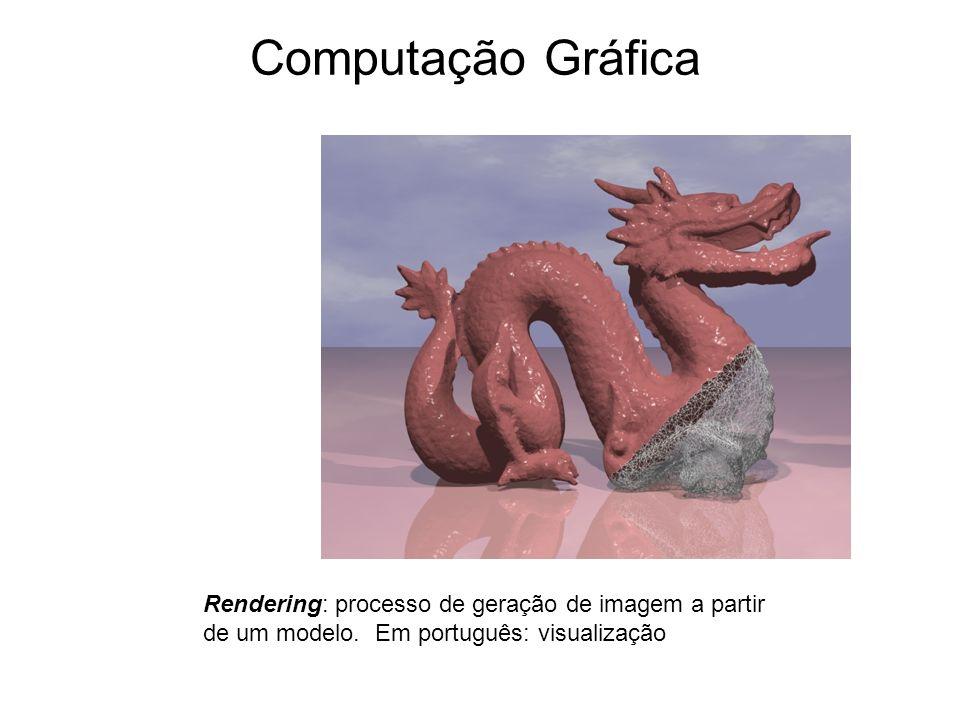 Computação Gráfica Rendering: processo de geração de imagem a partir de um modelo.
