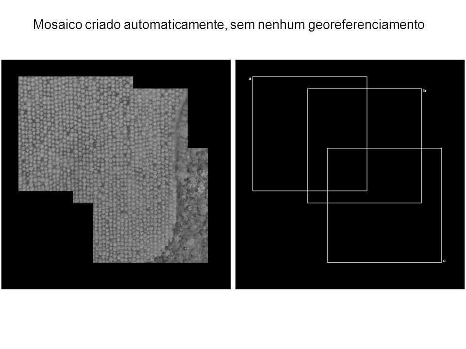 Mosaico criado automaticamente, sem nenhum georeferenciamento