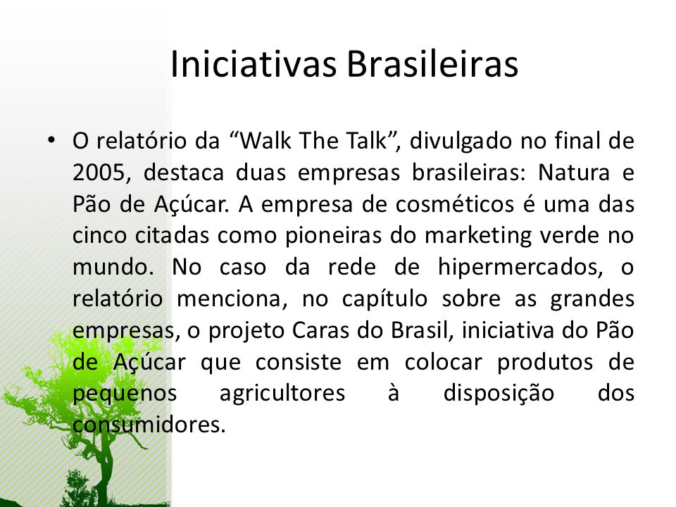 Iniciativas Brasileiras