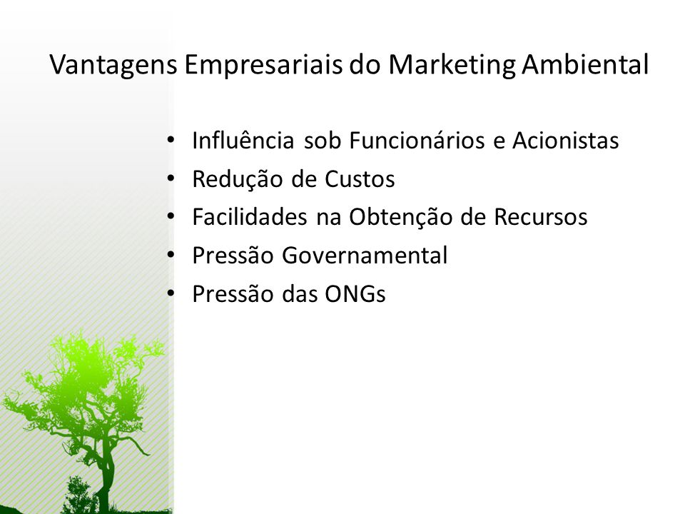 Vantagens Empresariais do Marketing Ambiental