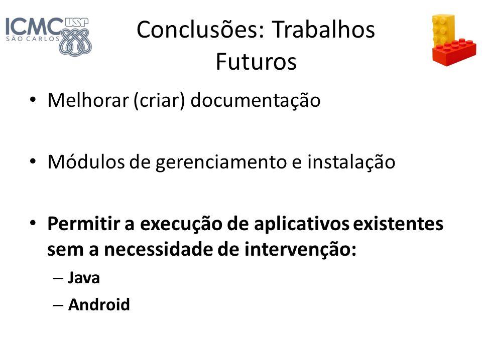 Conclusões: Trabalhos Futuros