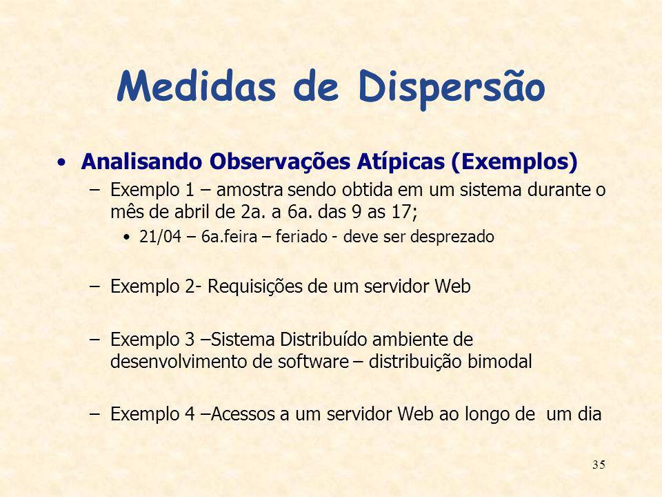 Medidas de Dispersão Analisando Observações Atípicas (Exemplos)