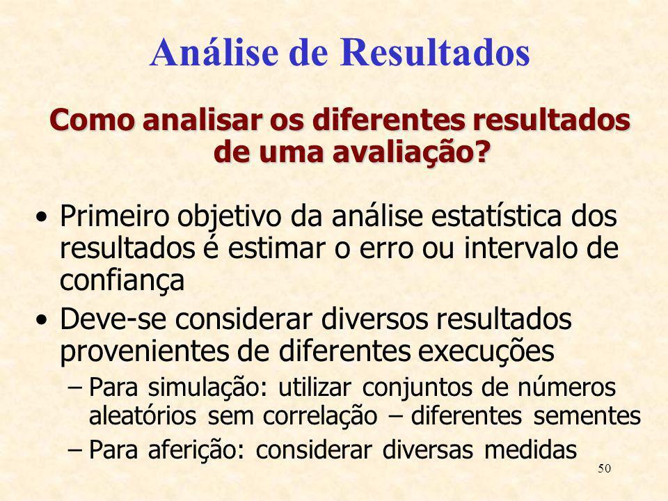 Como analisar os diferentes resultados de uma avaliação