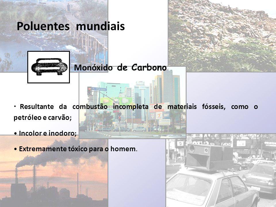 Poluentes mundiais Monóxido de Carbono