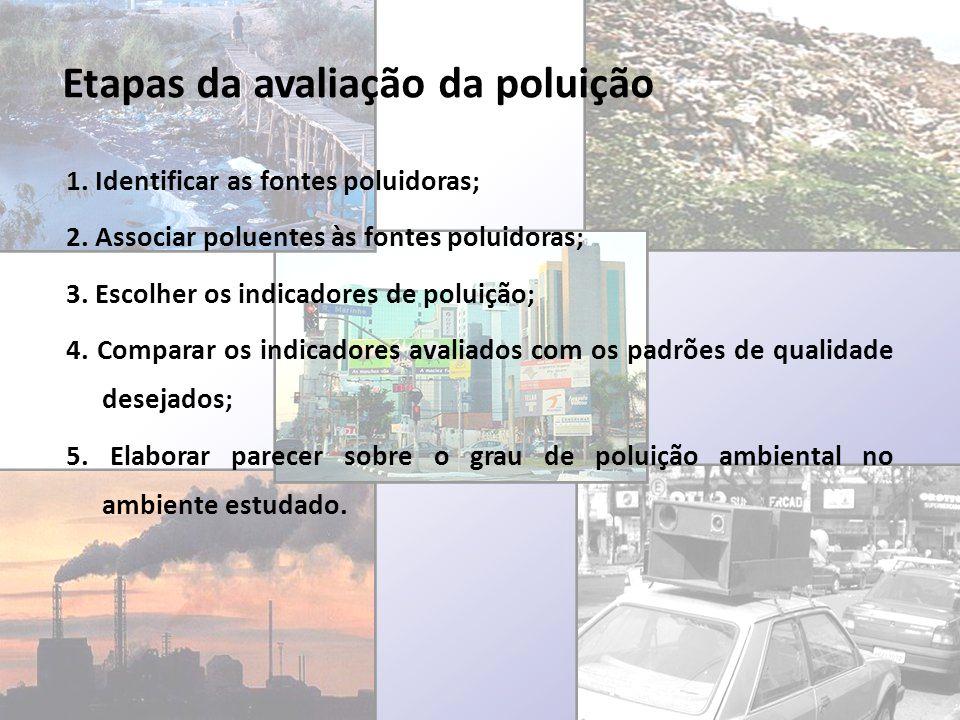 Etapas da avaliação da poluição