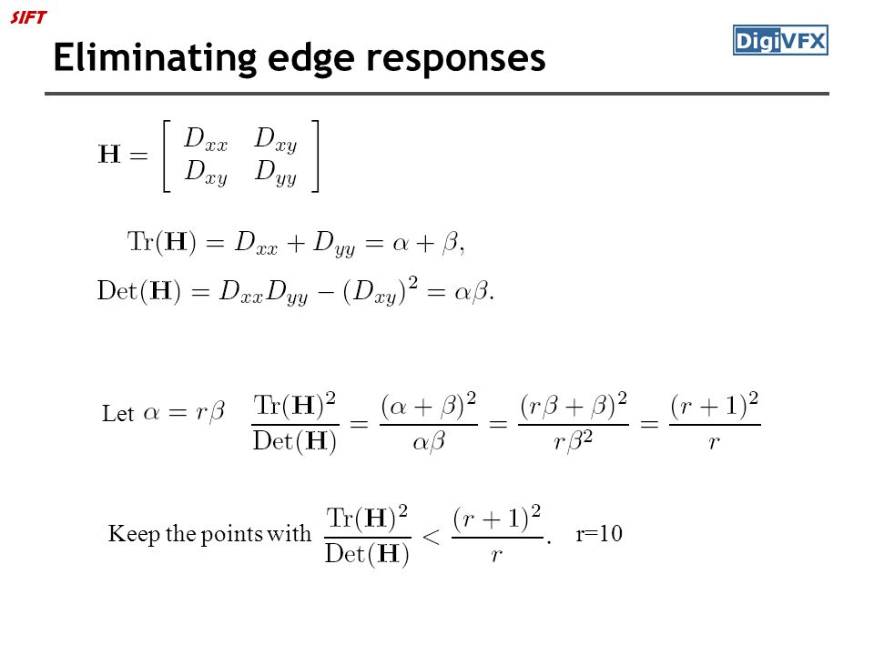 Eliminating edge responses