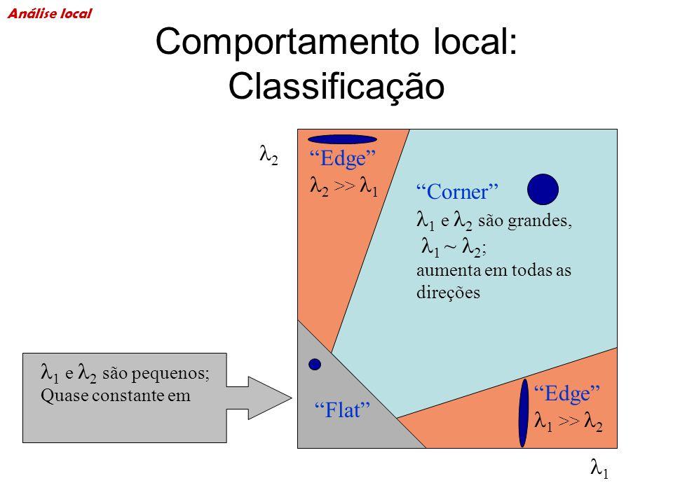 Comportamento local: Classificação