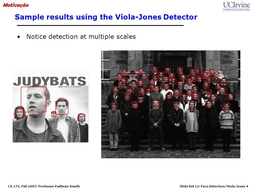 Sample results using the Viola-Jones Detector
