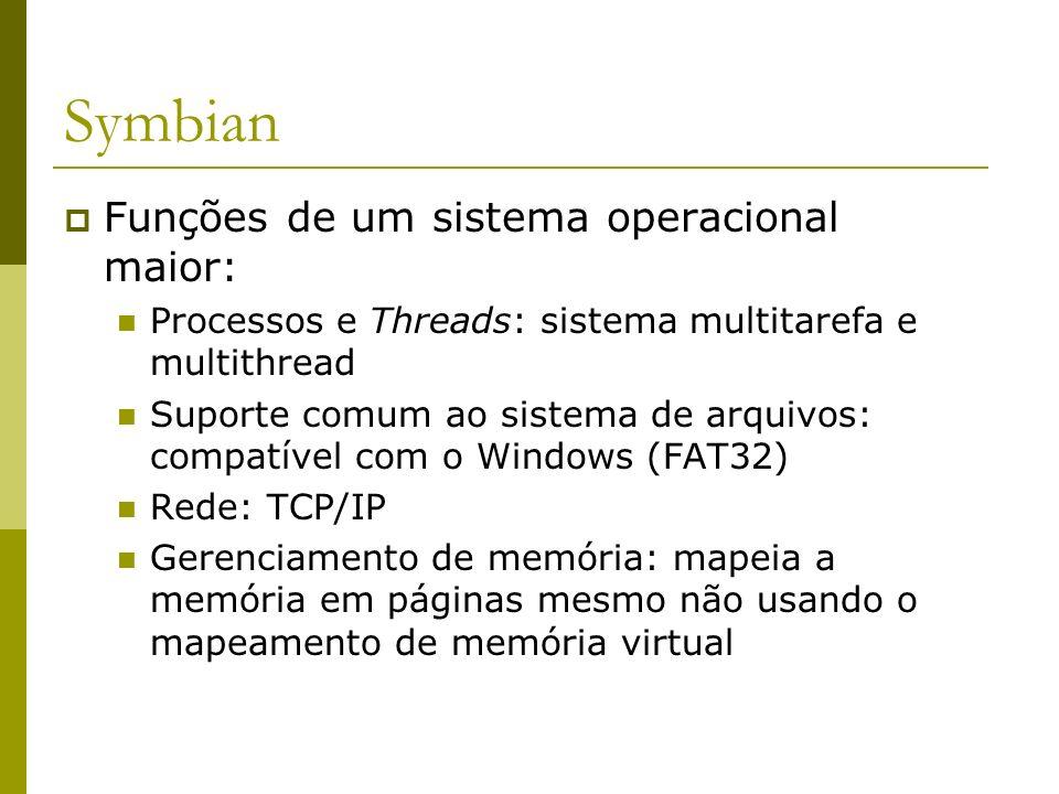 Symbian Funções de um sistema operacional maior: