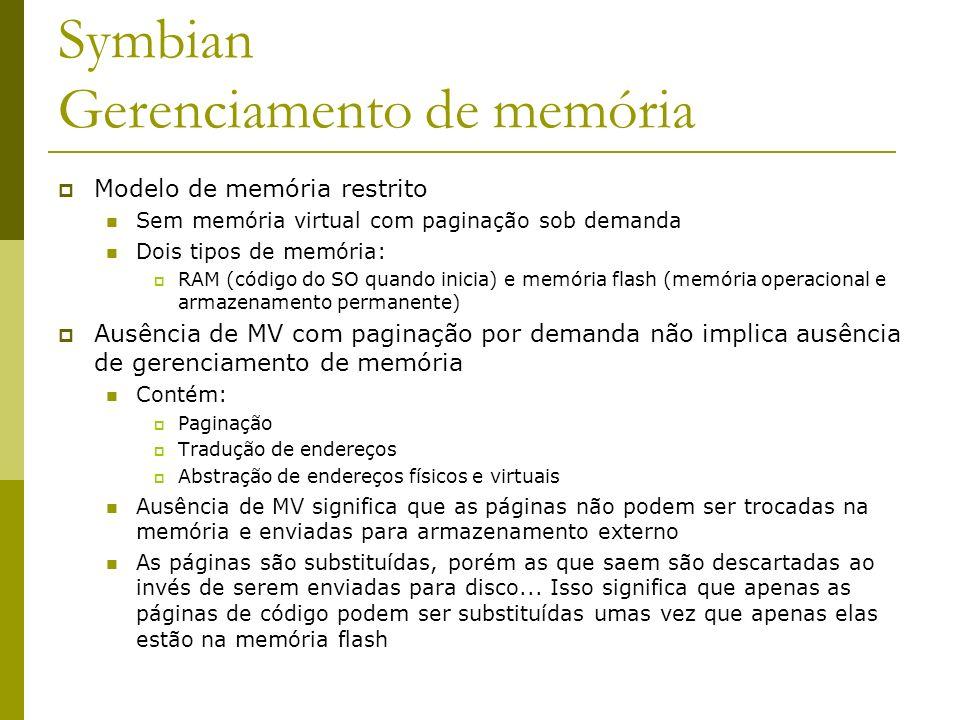 Symbian Gerenciamento de memória