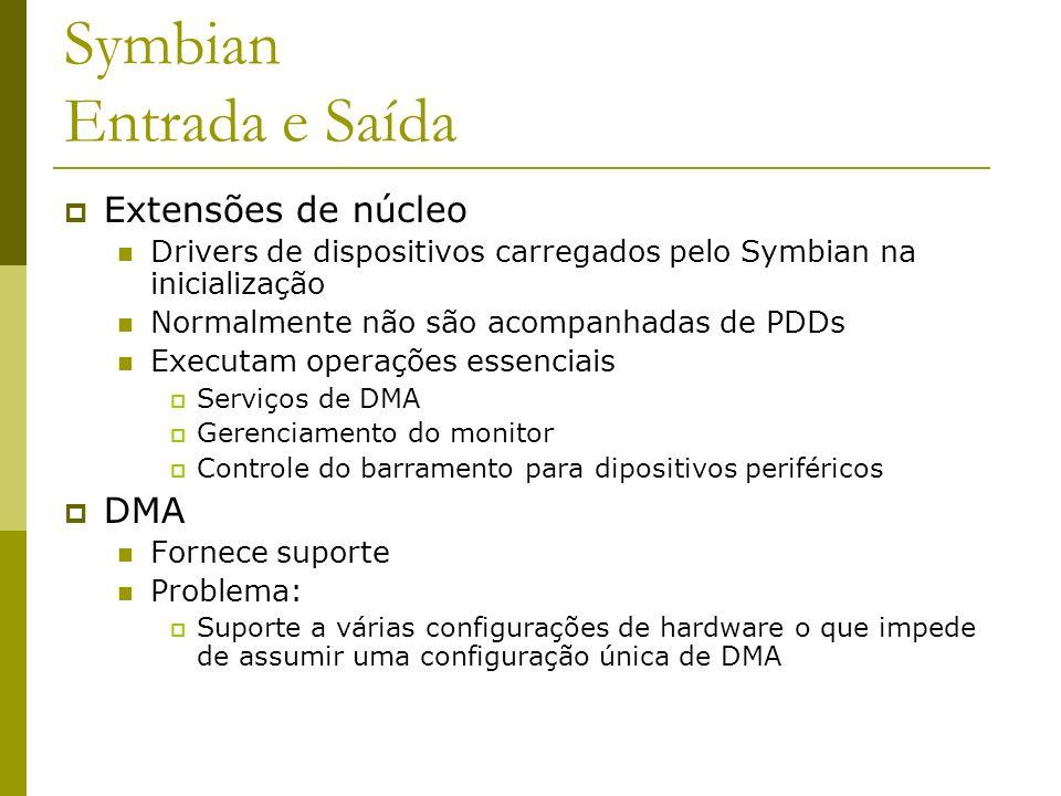 Symbian Entrada e Saída