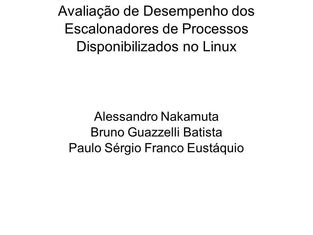 Avaliação de Desempenho dos Escalonadores de Processos Disponibilizados no Linux