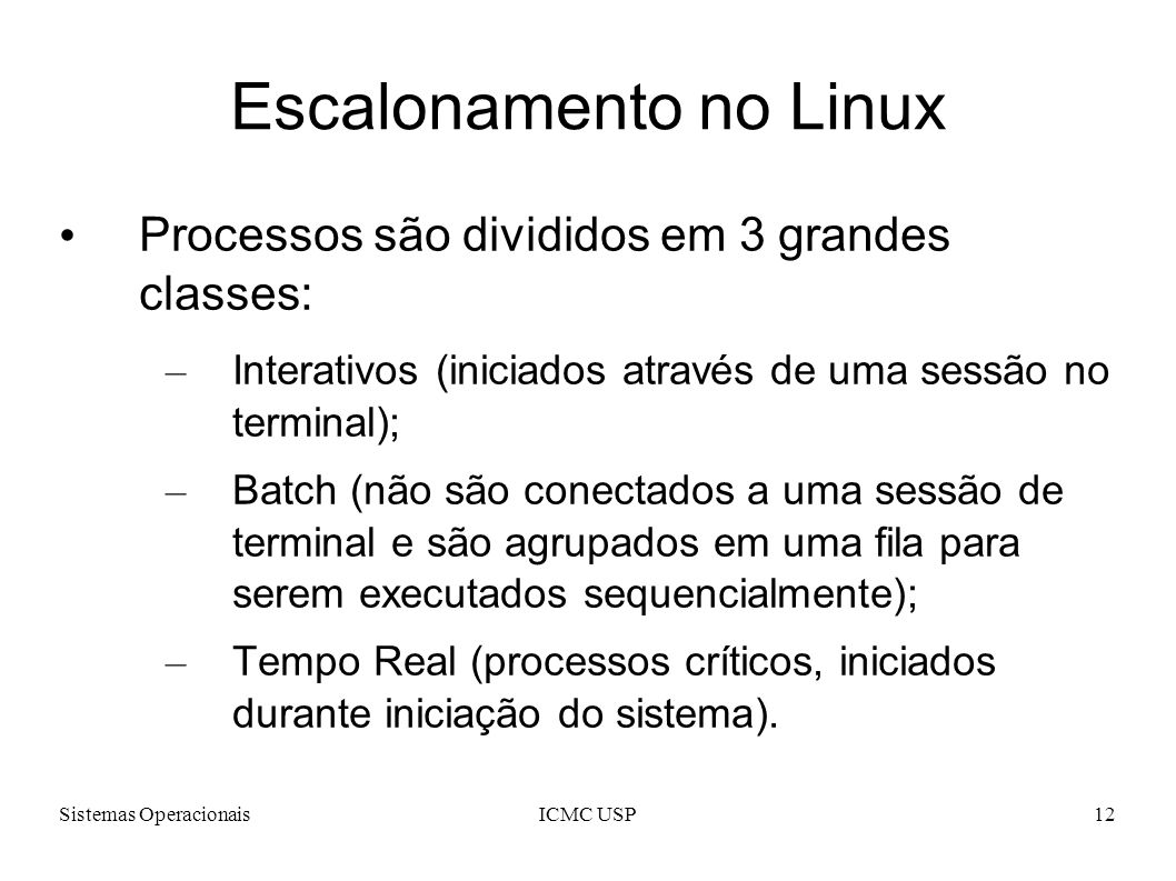 Escalonamento no Linux
