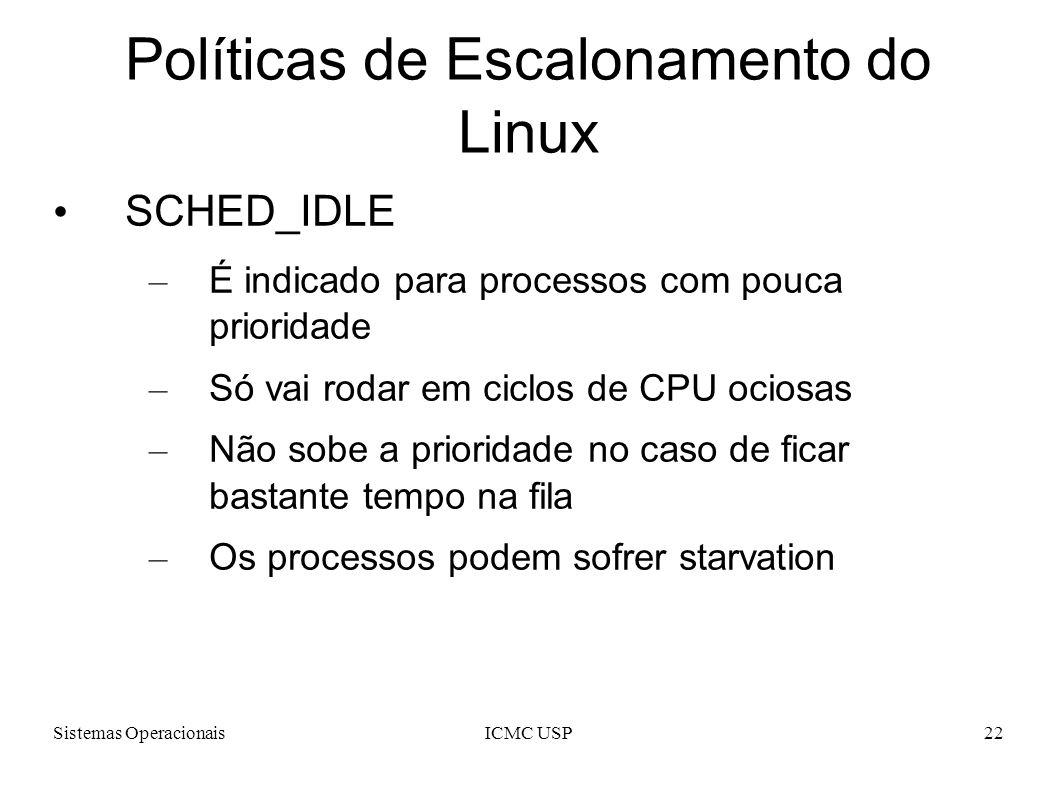 Políticas de Escalonamento do Linux