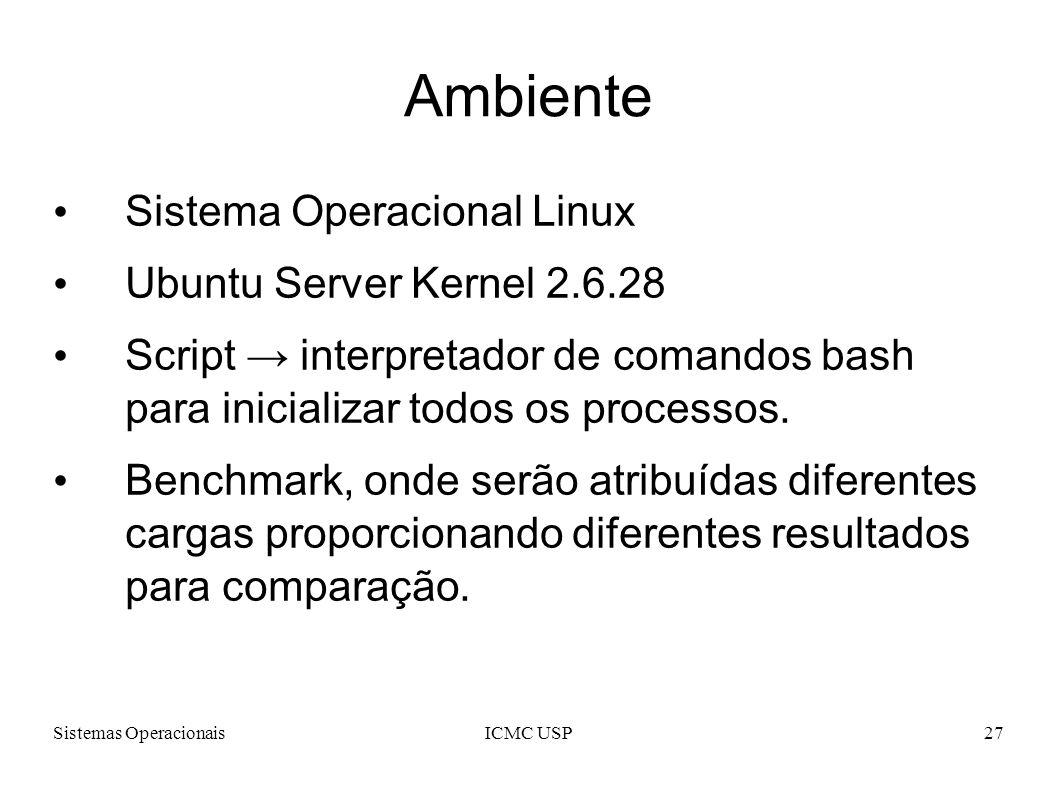 Ambiente Sistema Operacional Linux Ubuntu Server Kernel 2.6.28