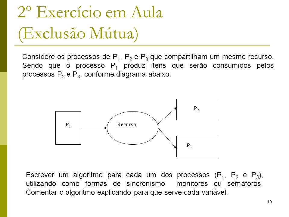 2º Exercício em Aula (Exclusão Mútua)