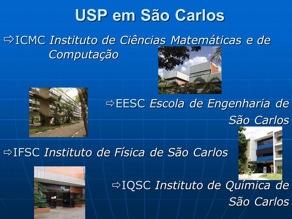 USP em São CarlosICMC Instituto de Ciências Matemáticas e de Computação. EESC Escola de Engenharia de.