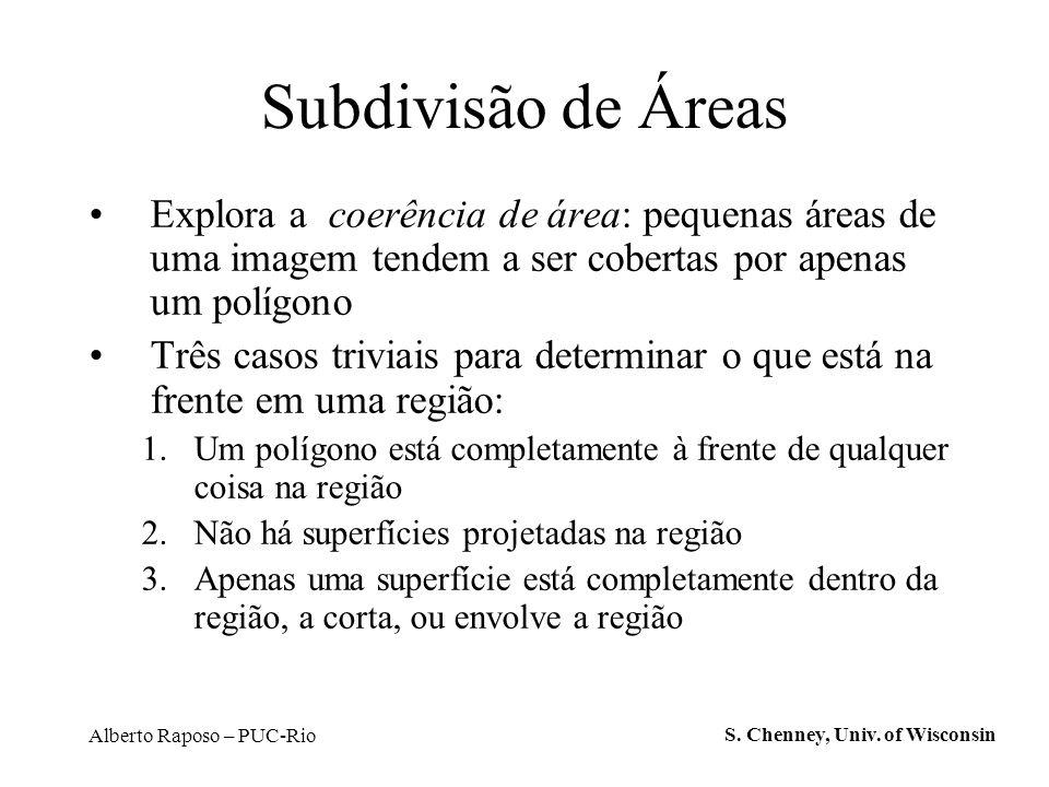 Subdivisão de Áreas Explora a coerência de área: pequenas áreas de uma imagem tendem a ser cobertas por apenas um polígono.