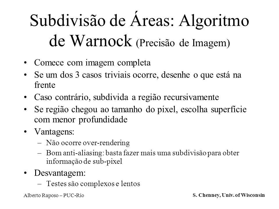 Subdivisão de Áreas: Algoritmo de Warnock (Precisão de Imagem)