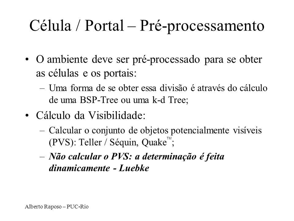 Célula / Portal – Pré-processamento