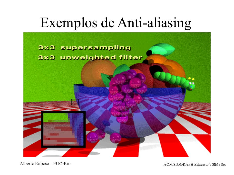 Exemplos de Anti-aliasing
