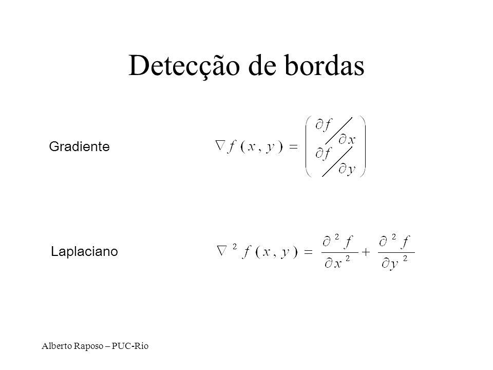 Detecção de bordas Gradiente Laplaciano Alberto Raposo – PUC-Rio