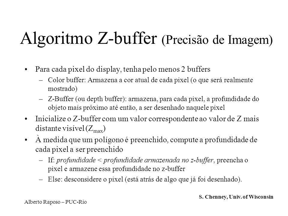 Algoritmo Z-buffer (Precisão de Imagem)