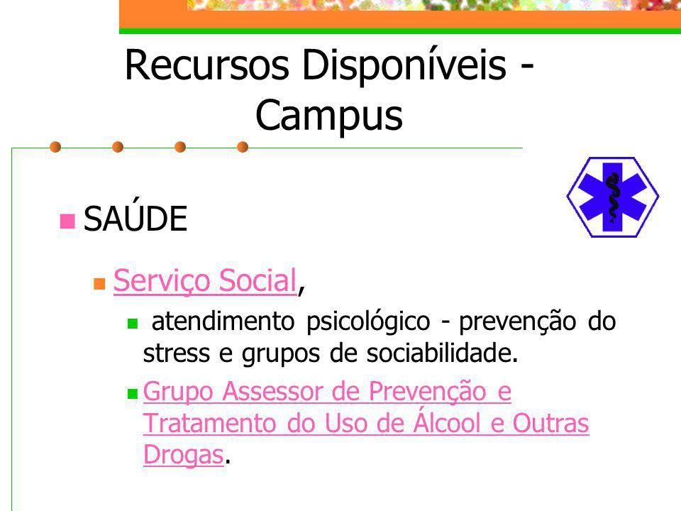 Recursos Disponíveis - Campus