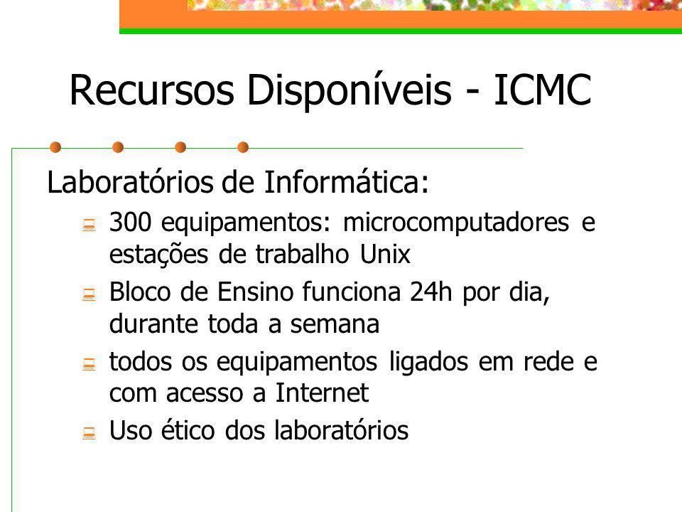 Recursos Disponíveis - ICMC
