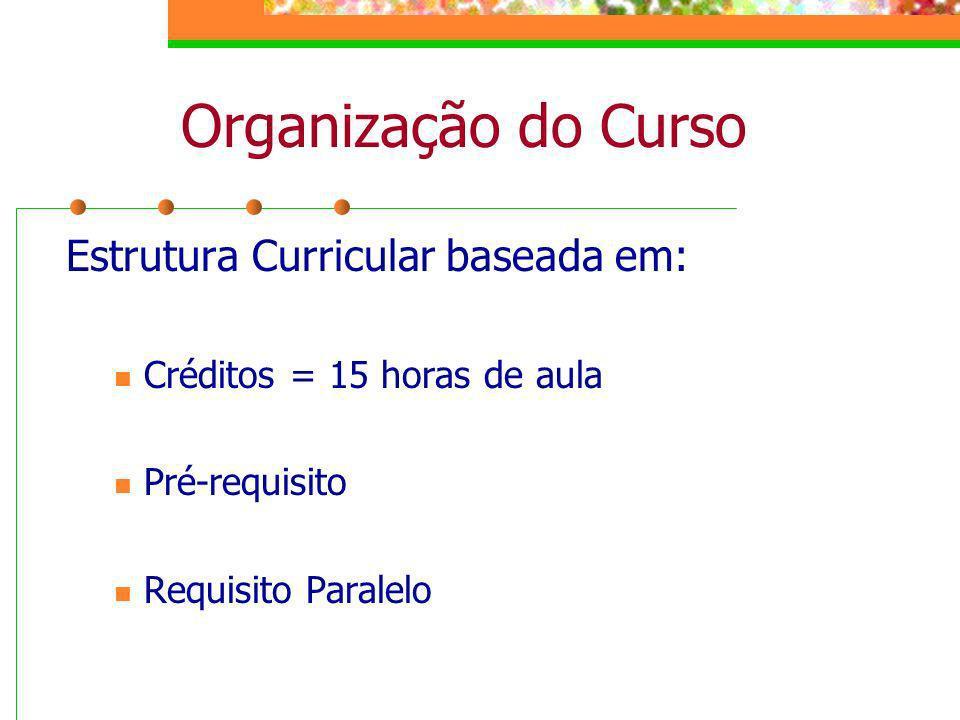 Organização do Curso Estrutura Curricular baseada em: