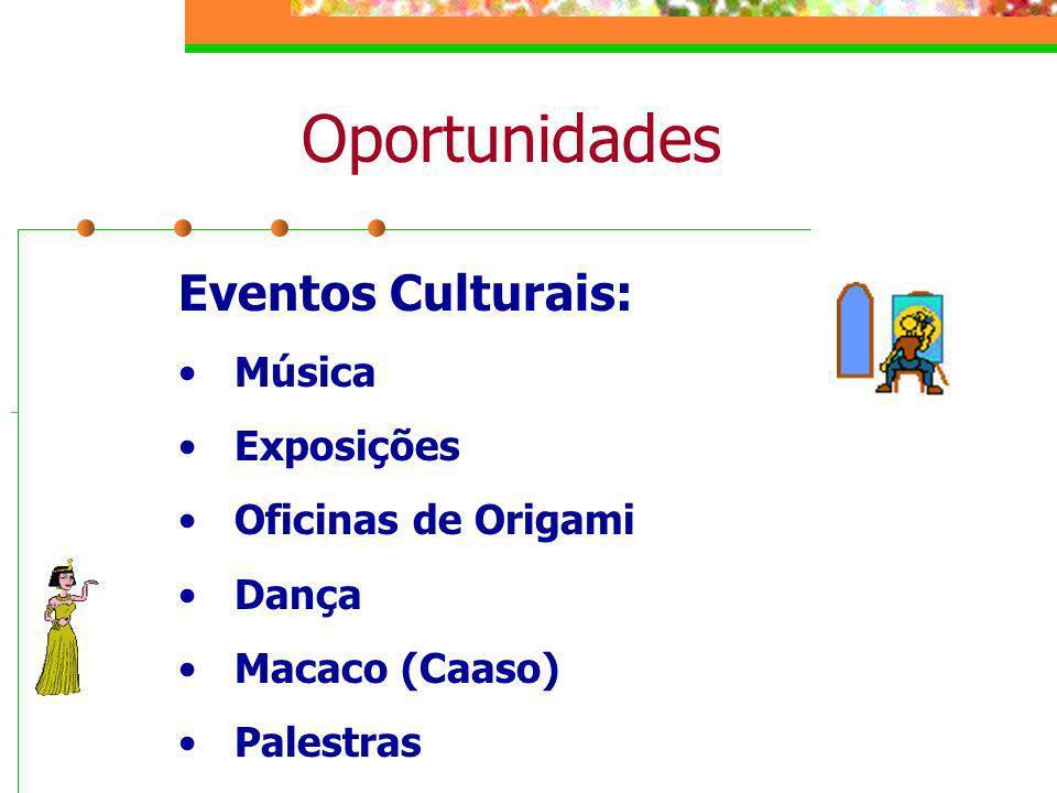 Oportunidades Eventos Culturais: Música Exposições Oficinas de Origami