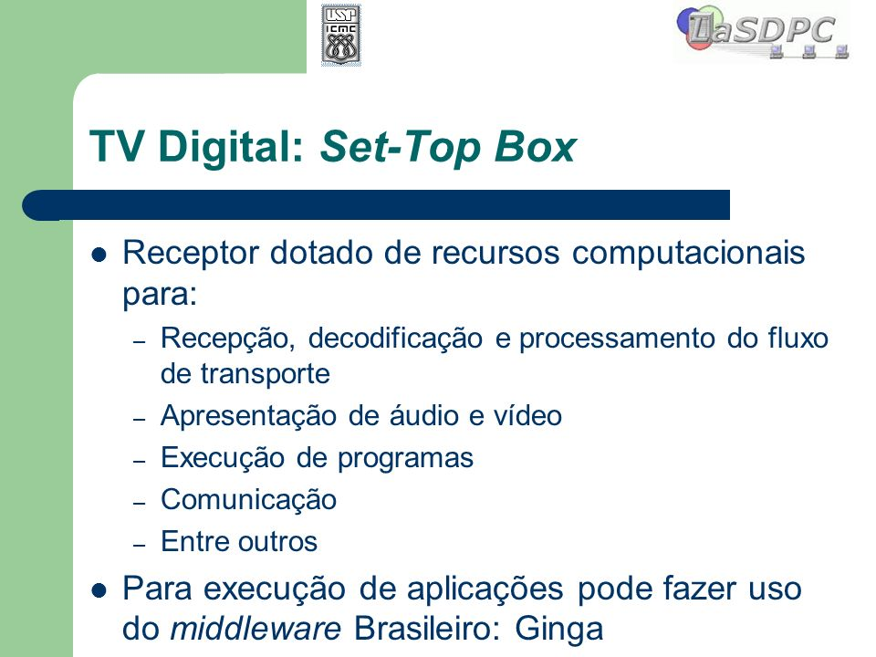 TV Digital: Set-Top Box