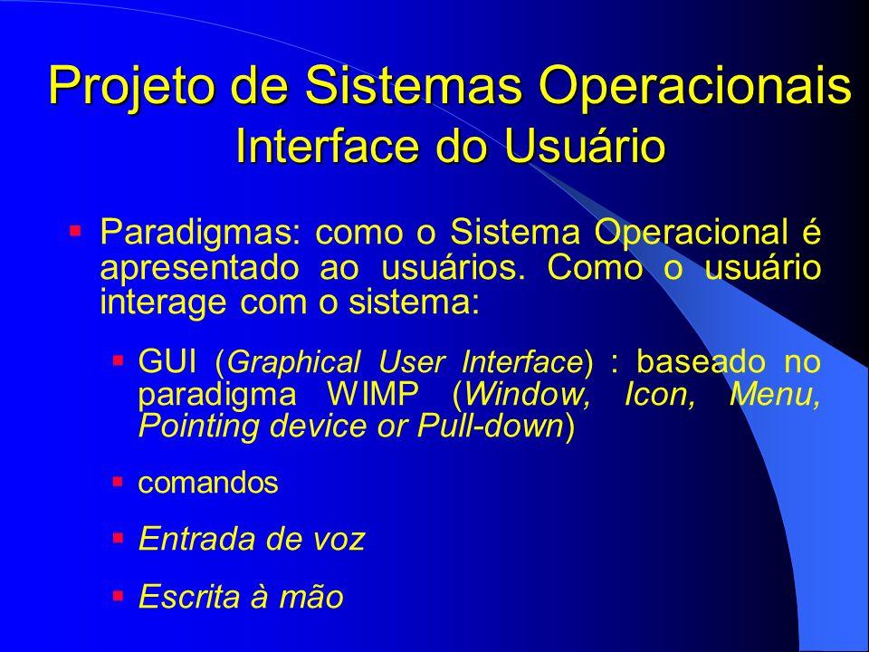 Projeto de Sistemas Operacionais Interface do Usuário