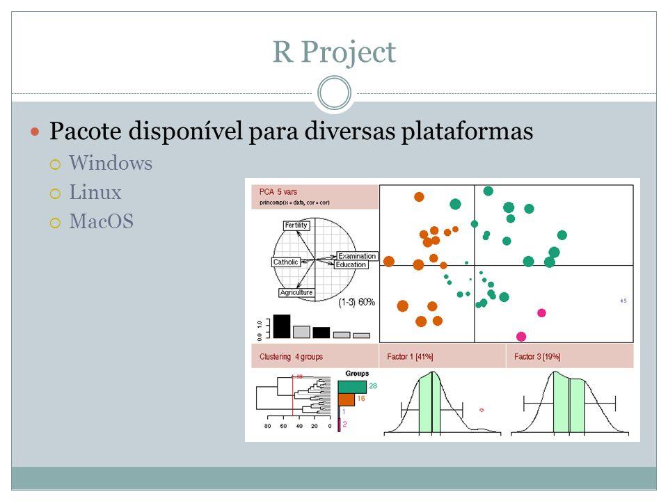 R Project Pacote disponível para diversas plataformas Windows Linux