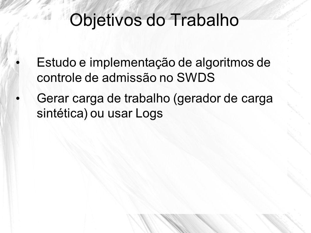 Objetivos do Trabalho Estudo e implementação de algoritmos de controle de admissão no SWDS.