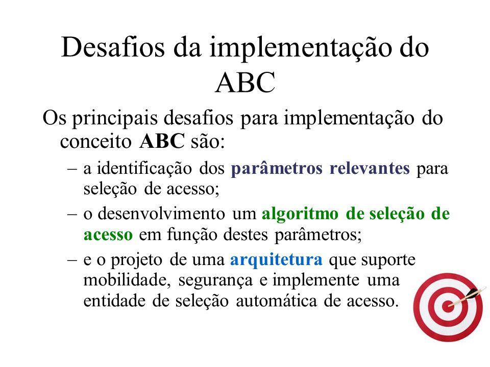 Desafios da implementação do ABC