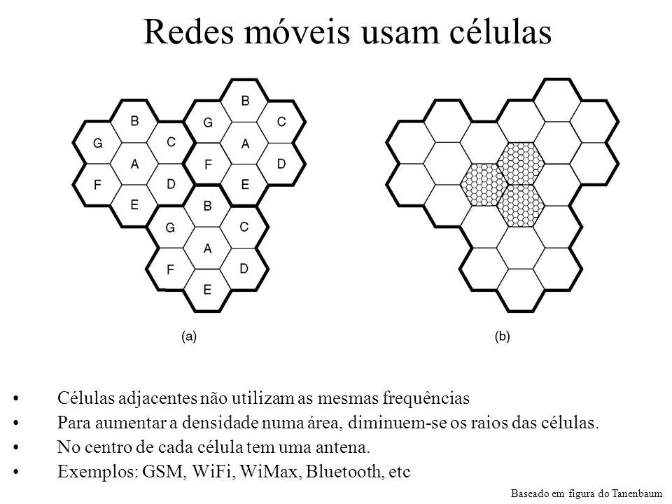 Redes móveis usam células
