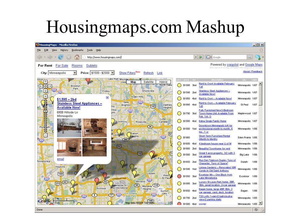 Housingmaps.com Mashup