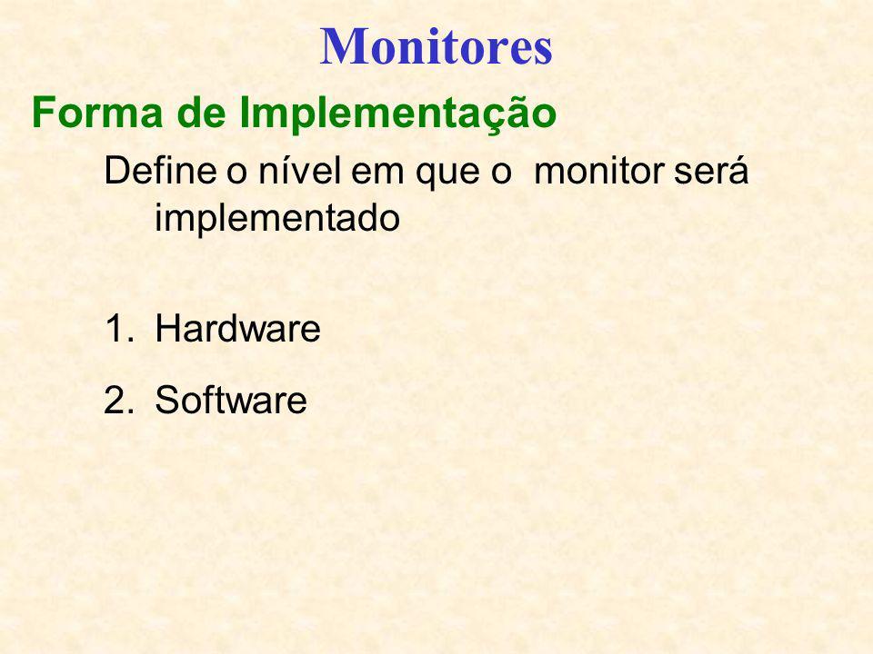 Monitores Forma de Implementação