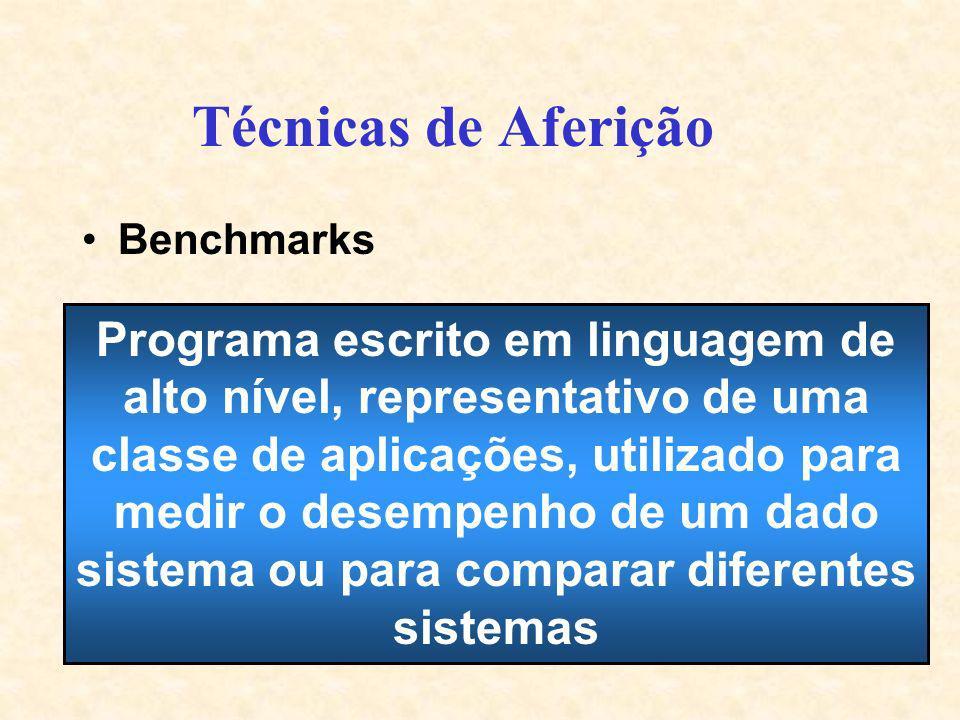 Técnicas de Aferição Benchmarks.