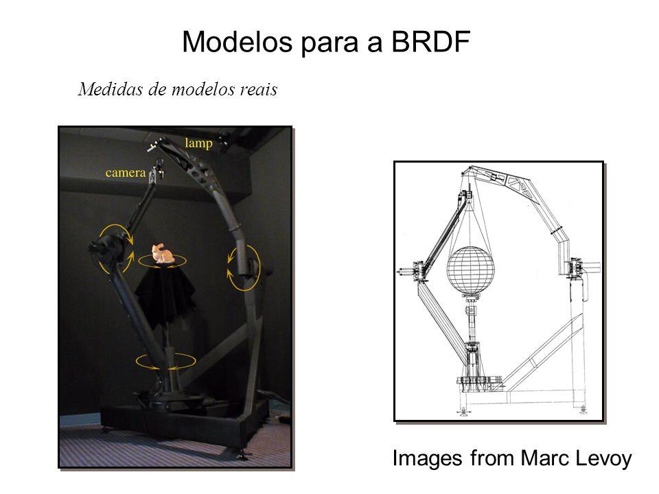 Modelos para a BRDF Medidas de modelos reais Images from Marc Levoy