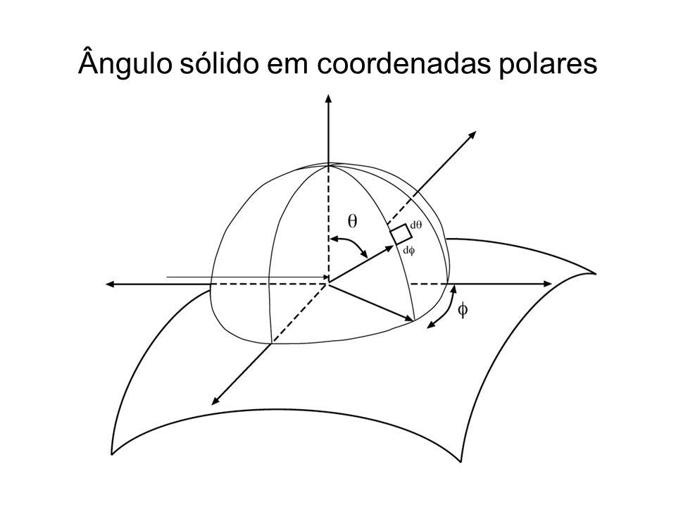 Ângulo sólido em coordenadas polares