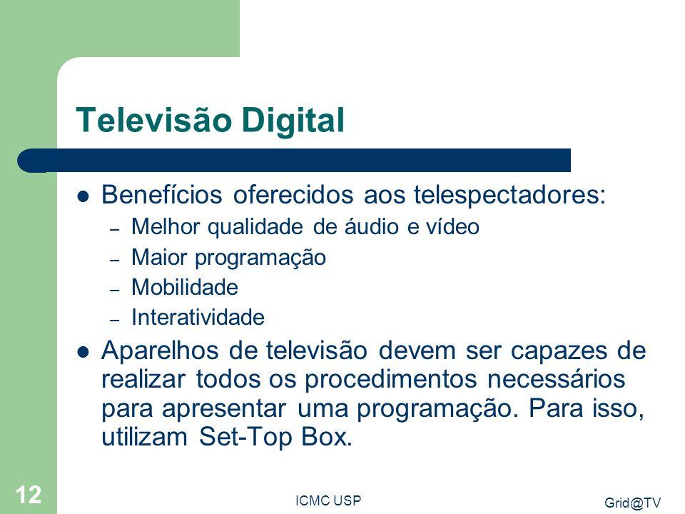 Televisão Digital Benefícios oferecidos aos telespectadores: