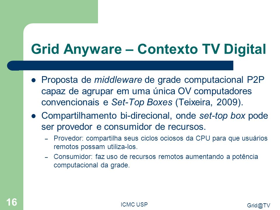 Grid Anyware – Contexto TV Digital