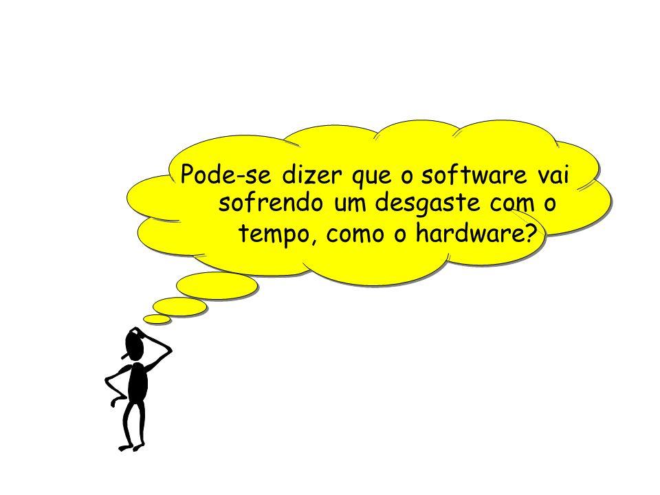 Pode-se dizer que o software vai sofrendo um desgaste com o tempo, como o hardware