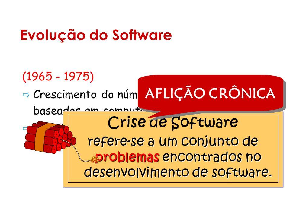 Evolução do Software AFLIÇÃO CRÔNICA Crise de Software