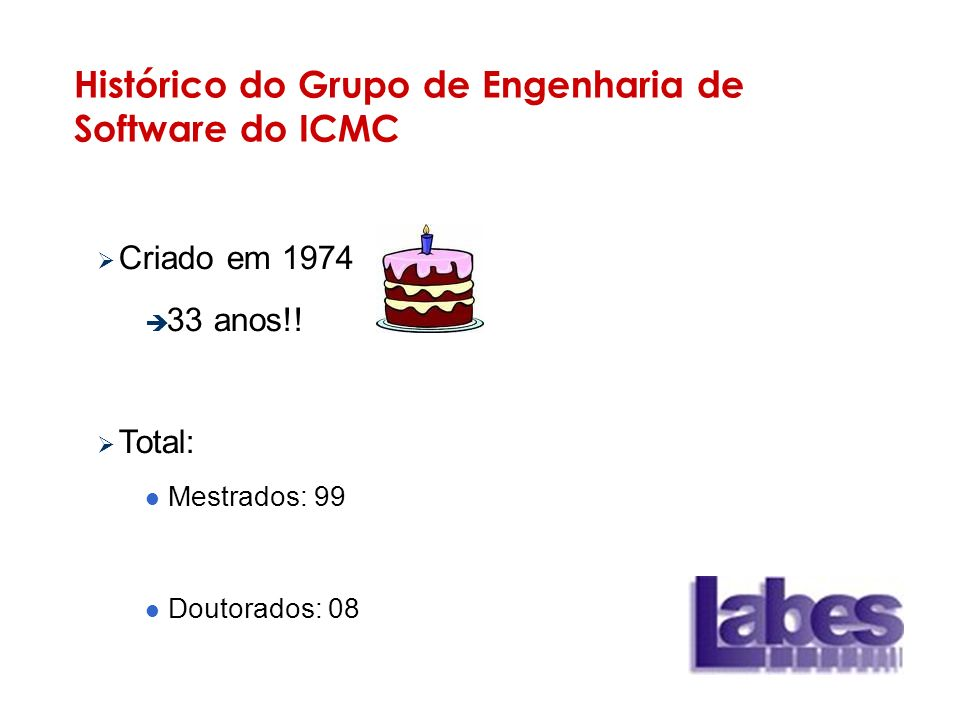 Histórico do Grupo de Engenharia de Software do ICMC