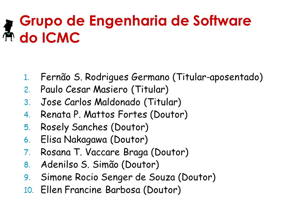 Grupo de Engenharia de Software do ICMC