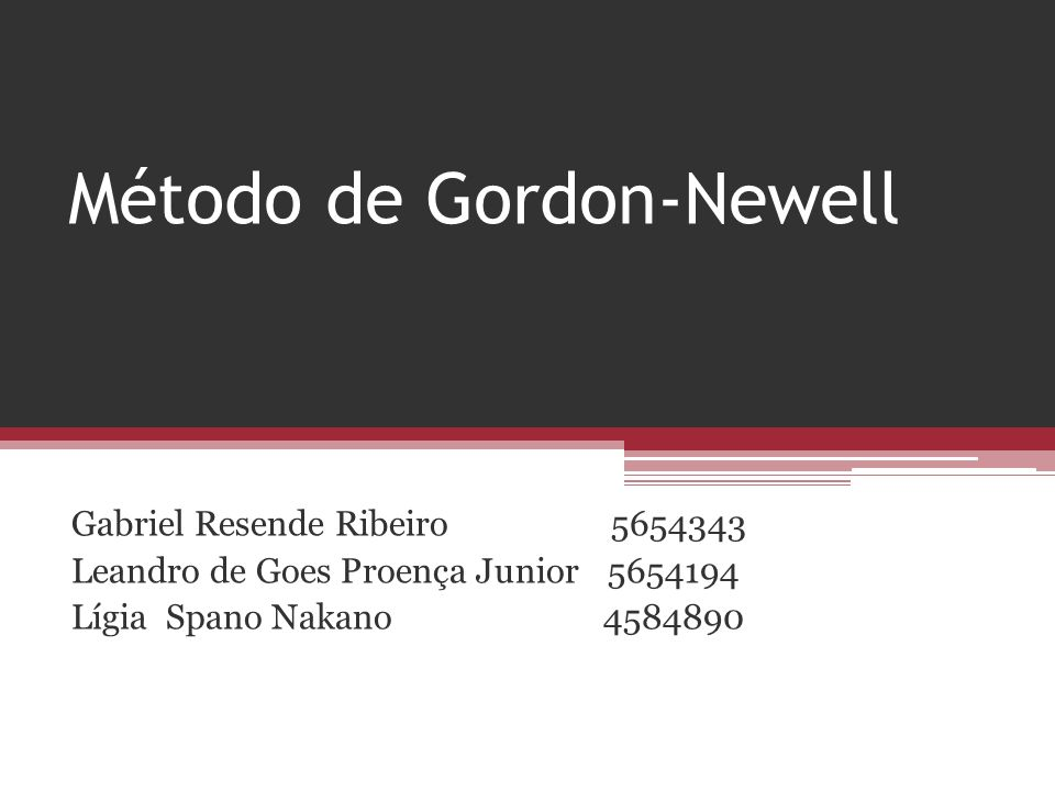 Método de Gordon-Newell